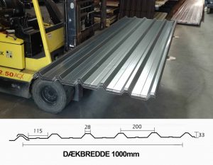 ståltrapez Tp35 a grå